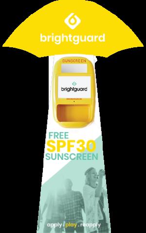 Brightguard Green Sunscreen Dispenser Brightguard